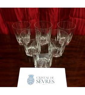 Verres à whisky en cristal de Sevres modèle Chenonceaux